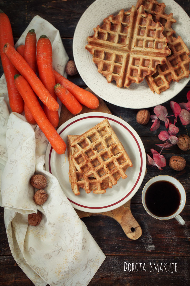 Gofry marchewkowe - łatwe i tanie