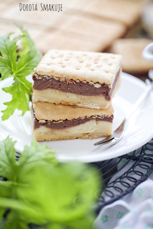 Napoleonka waniliowo czekoladowa