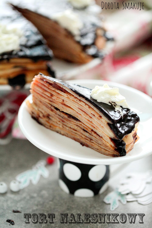 Tort naleśnikowy truskawkowo - czekoladowy