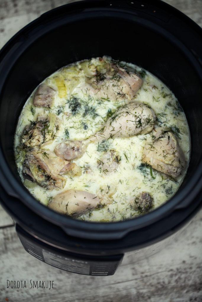 kurczak w sosie koperkowym z szybkowara