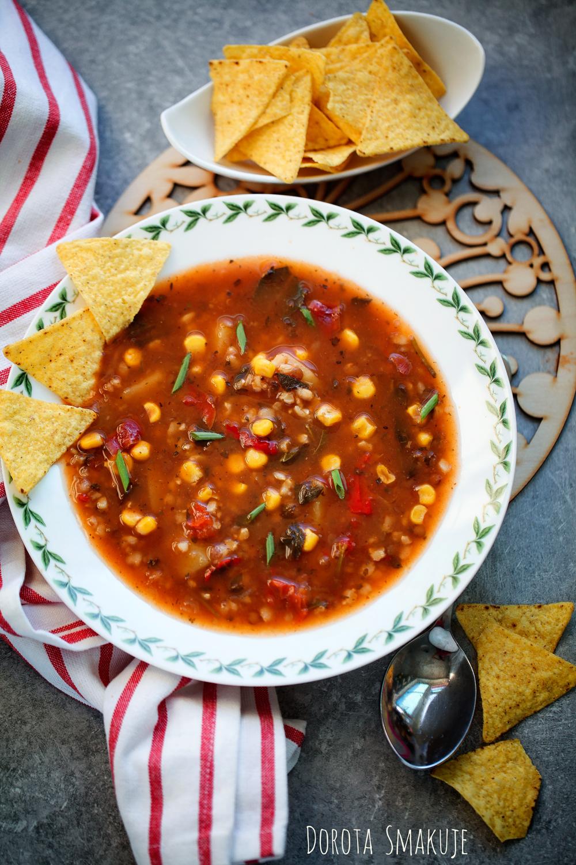 Zupa meksykańska z chipsami
